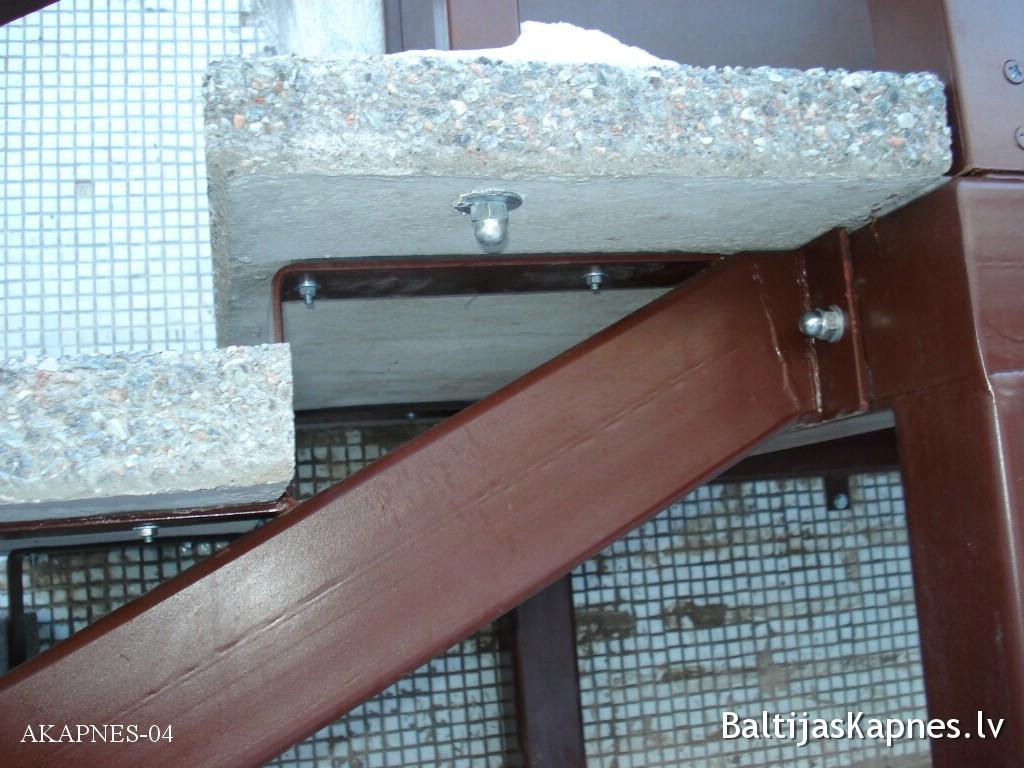 Ārējās kāpnes, balstu konstrukcija